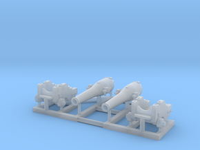 2 X 1/150 Dahlgren IX Smoothbore Cannon in Smooth Fine Detail Plastic