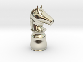 Knight White - Bullet Series in 14k White Gold