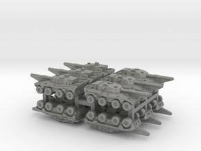 3mm SADF Rooikat 105 MBT (12 pcs) in Gray PA12