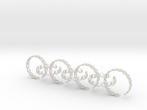 seven size 6 18.11 mm rings (1) in White Natural Versatile Plastic