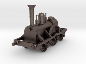 North Star - Locomotive Train in Polished Bronzed-Silver Steel
