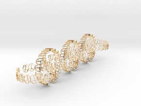 seven size 6 18.11 mm rings in 14k Gold Plated Brass