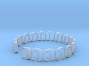 6 ring in Smooth Fine Detail Plastic