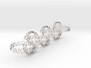 seven size 6 18.11 mm rings in Rhodium Plated Brass