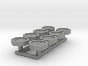 8 HO Scale Man Hole Covers in Gray PA12
