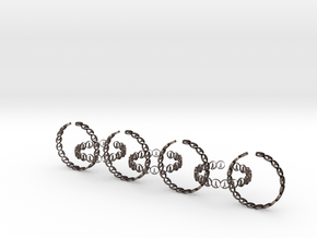 seven size 6 18.11 mm rings in Polished Bronzed-Silver Steel
