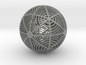 Moiré Sphere in Gray Professional Plastic