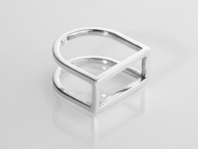 Ring - Levl in Fine Detail Polished Silver: 6 / 51.5