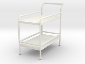 1:24 Tea Cart in White Natural Versatile Plastic