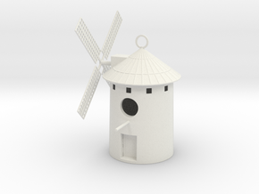 Spanish Windmill Birdhouse in White Natural Versatile Plastic