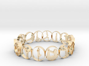 size 6 multi pose yoga ring in 14k Gold Plated Brass