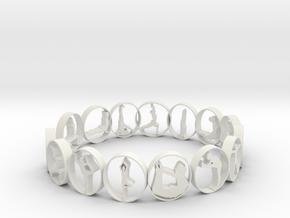 size 7 multi pose yoga ring 18.92 mm in White Natural Versatile Plastic