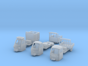 Three-wheeled Light Truck 1990s x3 - 1:150 - N in Smooth Fine Detail Plastic