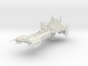 Barcaza de Batalla  in White Natural Versatile Plastic