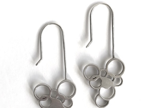 Exhale Bubble Earrings in Fine Detail Polished Silver