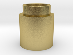 Button Activator in Natural Brass