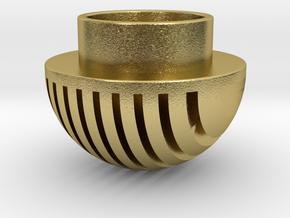 Plates Pommel in Natural Brass