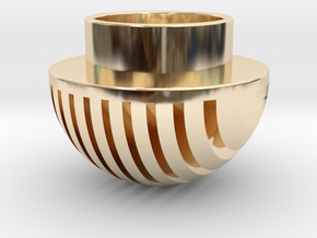 Plates Pommel in 14K Yellow Gold