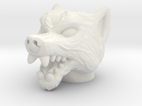 Anubi Head - Multisize in White Natural Versatile Plastic: Medium