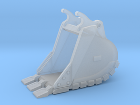 """1:50 36""""Trench bucket+Spade teeth for Cat 336D/E in Smooth Fine Detail Plastic"""