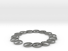 Bangle with 15 yoga poses 63.5 mm in Gray PA12
