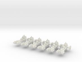 Fragata Gladius x6 in White Natural Versatile Plastic