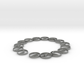 Bangle with 15 yoga poses 60.3 mmm in Gray PA12
