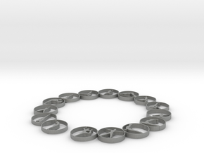 Bangle with 15 yoga poses 57.2 mmm in Gray Professional Plastic
