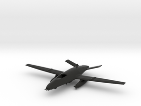 Boeing MQ-25 Stingray in Black Natural Versatile Plastic: 1:200