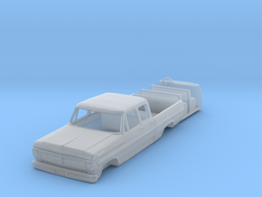 1/50 1960's Ford crew cab pickup in Smooth Fine Detail Plastic