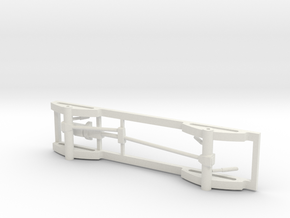 1/50 4x4 Pickup truck frame in White Natural Versatile Plastic