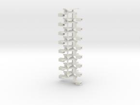 #00Q1 Kurzkupplungsdeichsel 01 (8 Paar) in White Natural Versatile Plastic
