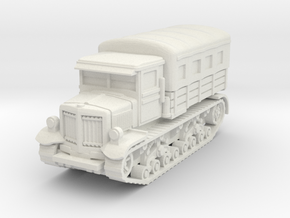 Voroshilovets tractor (covered) scale 1/56 in White Natural Versatile Plastic