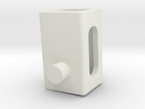 Electr_Motor_Holder-Collumn in White Natural Versatile Plastic
