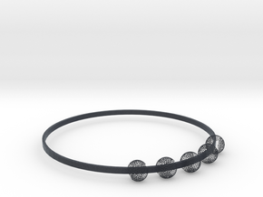 bangle with voronoi balls in Black Professional Plastic