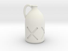 1/12 Liquor Bottle in White Premium Versatile Plastic