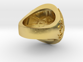 Ring award - capitola engraved in Polished Brass