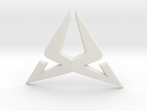 Cupra Steering Wheel Logo Front in White Natural Versatile Plastic