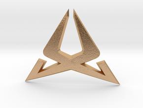 Cupra Steering Wheel Logo Front in Natural Bronze