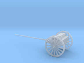 1/87 Scale 3 Inch Gun Caisson Limber M1918 in Smooth Fine Detail Plastic