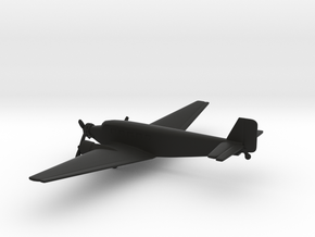 Junkers Ju 52 Iron Annie in Black Natural Versatile Plastic: 6mm