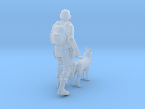 Soldier 19 Ho Scale (Dog Unit) in Smooth Fine Detail Plastic