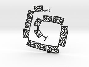 Art Deco Statement Necklace in Black Premium Versatile Plastic