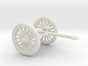 1/48 Scale 4.7 Inch Gun Limber M1905 in White Natural Versatile Plastic