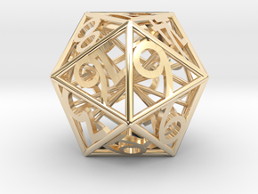 D20 Balanced - Numbers Only in 14k Gold Plated Brass