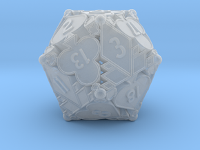 D20 Balanced - Cards (Plastic) in Smooth Fine Detail Plastic