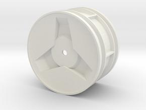 Modern Hex 2.2 Rear Wheel, Tamiya Thundershot in White Natural Versatile Plastic