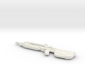 1:12 Miniature Battle Rifle - Halo 5 in White Natural Versatile Plastic: 1:12
