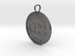 Kimaris Medallion in Polished Nickel Steel
