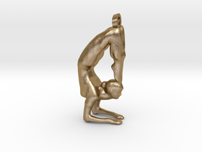 yoga jewelry - Vrischikasana in Polished Gold Steel